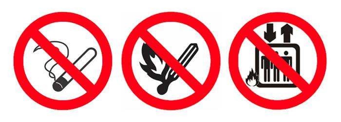 Exemplos de placas emergência