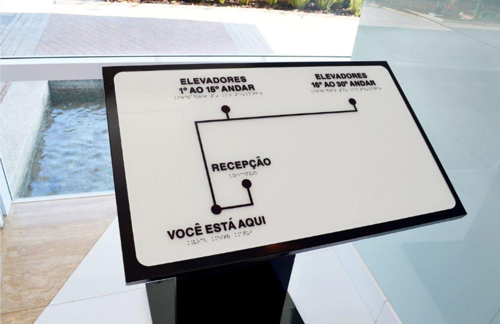 Acessibilidade no Brasil. Toten você está aqui.