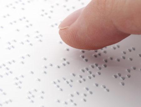 sinalização em braille