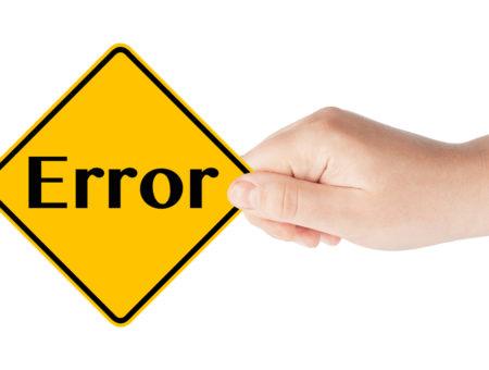 erros básicos de sinalização de segurança