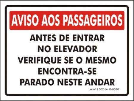 255636701ce56 Placas de sinalização em elevadores são obrigatórias
